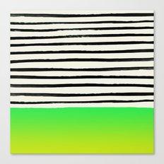 Lightning x Stripes Canvas Print