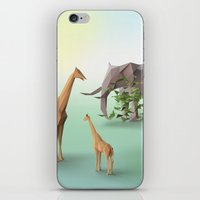 africa iPhone & iPod Skins featuring Africa by CharismArt