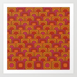 Geometric Retro Pattern Art Print