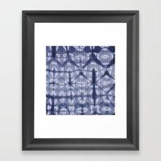 Tie Dye 2 Navy Framed Art Print