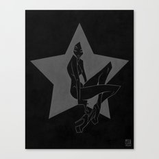 BLACK Canvas Print