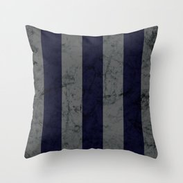 Dark Silver and Blue House Colors Throw Pillow