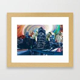 Surreal Los Angeles Skyline Framed Art Print