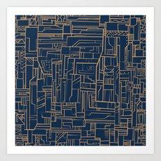 Electropattern Art Print