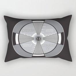 vintage tv test pattern Rectangular Pillow
