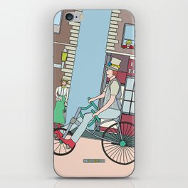 Steampunk Stovepipe Hat Biker iPhone Skin
