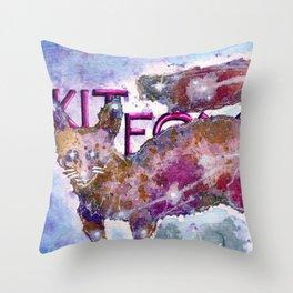 Kitfox Throw Pillow