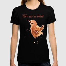 skech of bird T-shirt