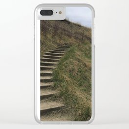 Stairway in Spring Clear iPhone Case