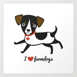 I love farmdogs Art Print