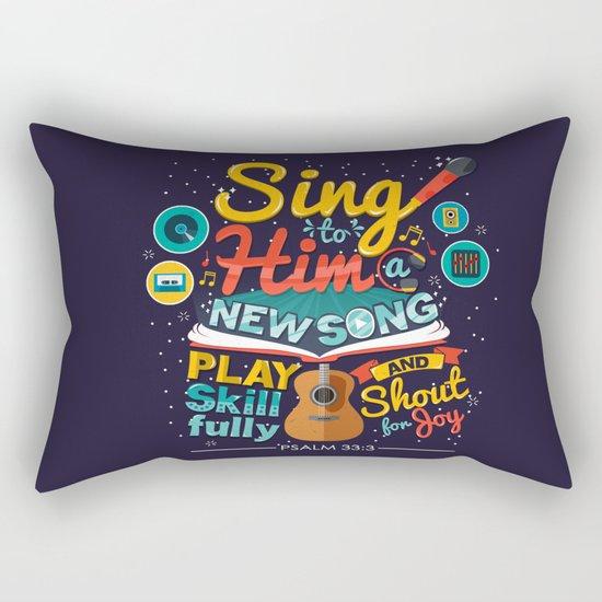 Psalm 33 Rectangular Pillow