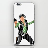 han solo iPhone & iPod Skins featuring Han Solo by Ayse Deniz