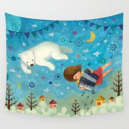Travel the night sky Wall Tapestry