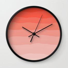 Living Coral Ombre Wall Clock