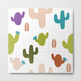 Cactus orange and green #homedecor Metal Print