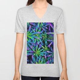 Neon Cannabis Unisex V-Neck