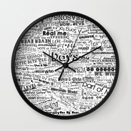 Under the same sky... (Black) Wall Clock