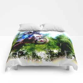"""Dare to Fly"" Motocross Racer Comforters"