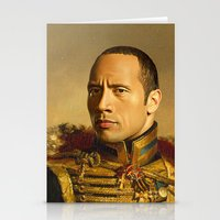 allyson johnson Stationery Cards featuring Dwayne (The Rock) Johnson - replaceface by replaceface