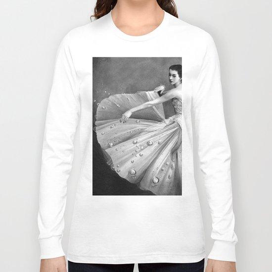 White Morning - graphite pencil drawing Long Sleeve T-shirt