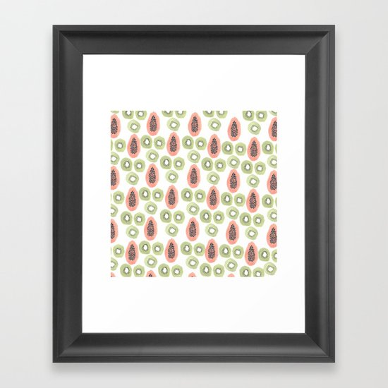 Kiwi and Papaya Framed Art Print
