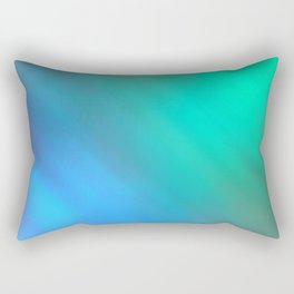 Mystic - Green and Blue Rectangular Pillow