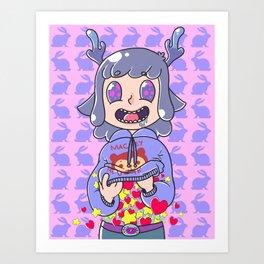 Deer boy Organs Art Print
