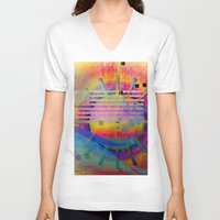 submarine V-neck T-shirts featuring submarine by Kay Weber