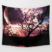 lunar Wall Tapestries featuring Dark Lunar by Webgrrl