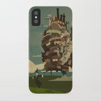 castle iPhone & iPod Cases featuring Moving Castle by Danny Haas