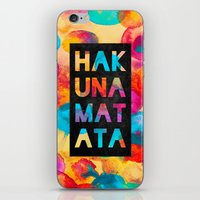 hakuna iPhone & iPod Skins featuring Hakuna matata by Elisabeth Fredriksson