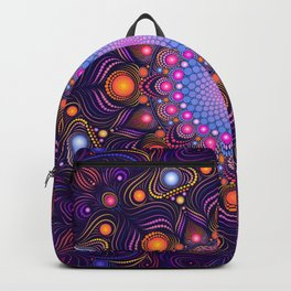 """Guardian"" Mandala painting Backpack"