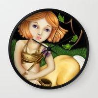sagittarius Wall Clocks featuring Sagittarius by Paula Ellenberger