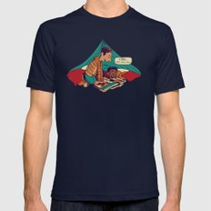 Troy & Abed's Dope Adventures Navy Mens Fitted Tee MEDIUM
