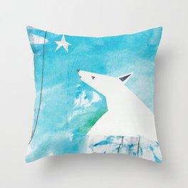 Polar Bear and Star (Hope) Throw Pillow