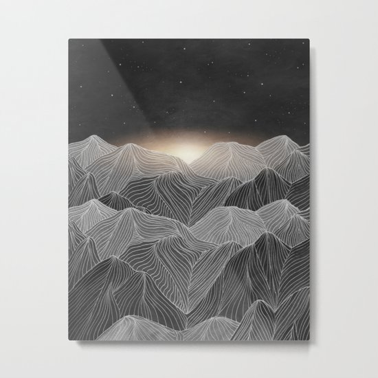 Lines in the mountains XIX Metal Print