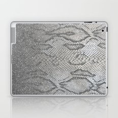 Shimmer (Silver Snake Glitter Abstract) Laptop & iPad Skin