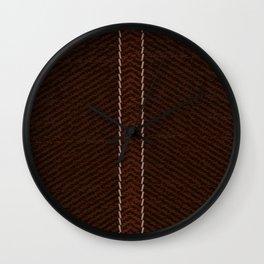 Rustic Brown Jeans Wall Clock