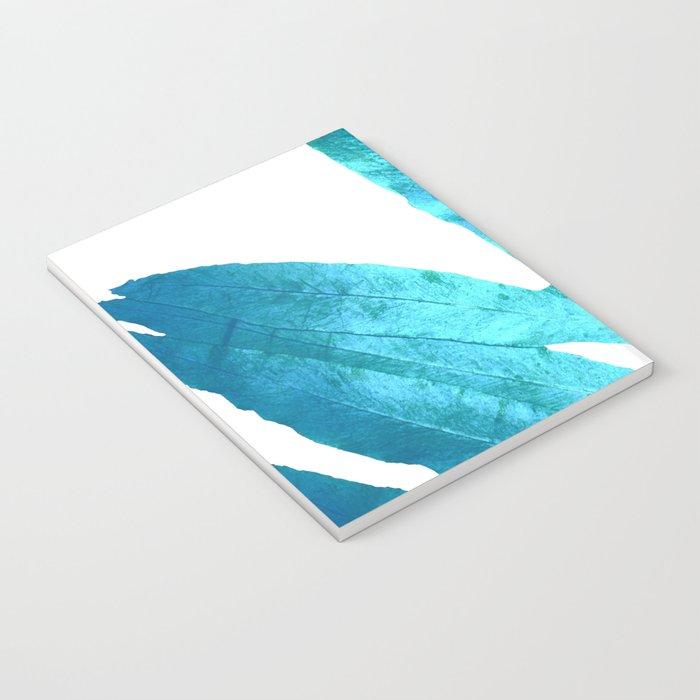 Ocean Blue Fern Notebook