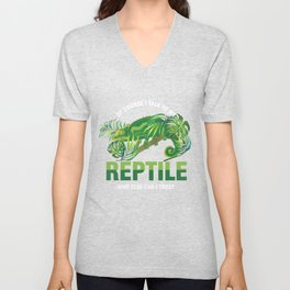 Of Course I Talk To My Reptile Pets Reptilia Herpetology Reptilian Cold Blooded Animal Gift Unisex V-Neck