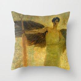 Handsome Golden Angel Throw Pillow