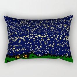 Mountaintop Duck Stargazing Date | Veronica Nagorny  Rectangular Pillow
