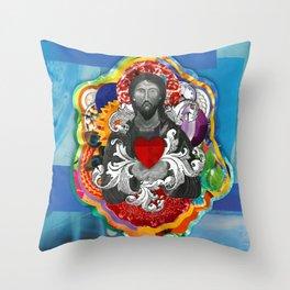 Sagrado Coração de Jesus (Sacred Heart) #2 Throw Pillow