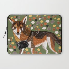 Photographer Red Wolf Laptop Sleeve