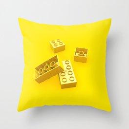 Duplo Yellow Throw Pillow