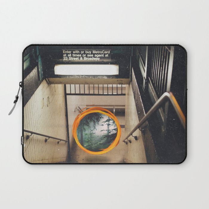 New York City Subway Portal to the Forest Laptop Sleeve