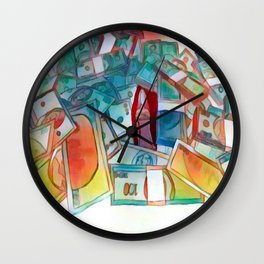 Burning the  Counterfeit Wall Clock