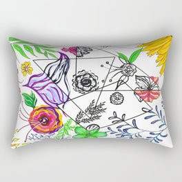 Bet You Guessed I Like Flowers Rectangular Pillow