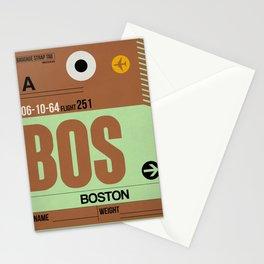 BOS Boston Luggage Tag 1 Stationery Cards