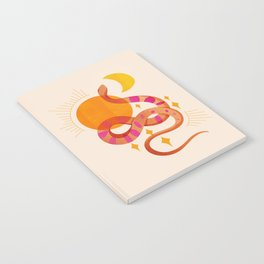 Abstraction_SUN_MOON_SNAKE_Minimalism_001 Notebook